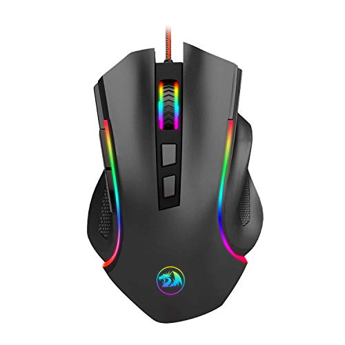Redragon M602 RGB Wired Gaming Mouse RGB Spectrum Backlit Ergonomic Mouse Griffin Programmable with 7 Backlight Modes up to...