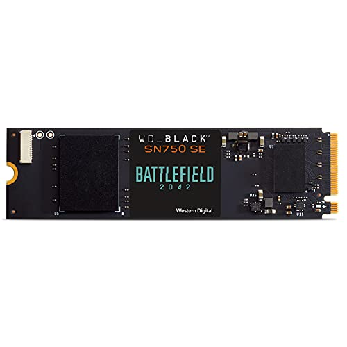 WD_BLACK 500GB SN750 SE NVMe SSD with Battlefield 2042 Game Code Bundle - Gen4PCle, Internal Gaming SSD Solid State Drive,...