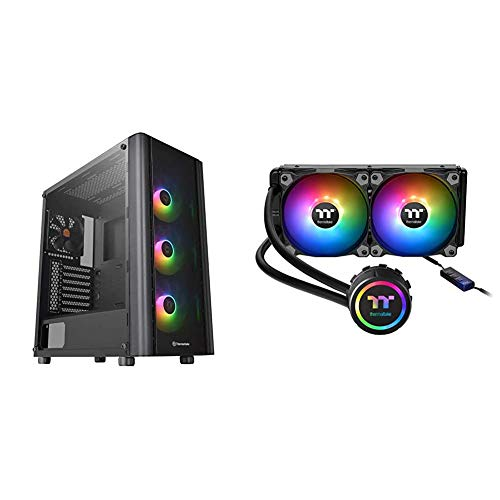 Thermaltake V250 Motherboard Sync ARGB ATX Mid-Tower Chassis & Water 3.0 ARGB Motherboard Sync Edition Intel/AMD 240...