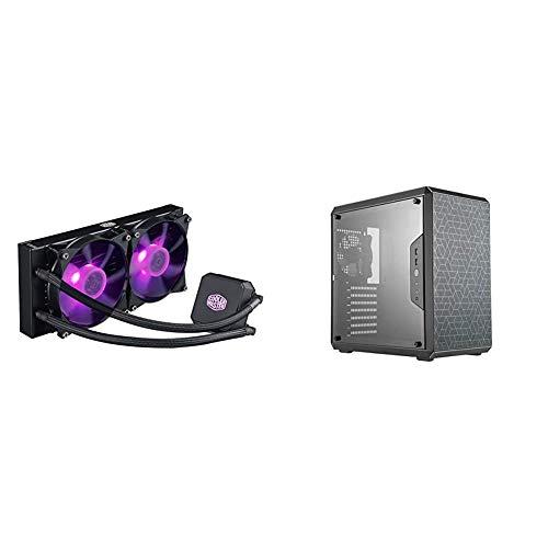 Cooler Master MasterLiquid LC240E RGB Close-Loop AIO CPU Liquid Cooler and Cooler Master MCB-Q500L-KANN-S00 MasterBox Matx...