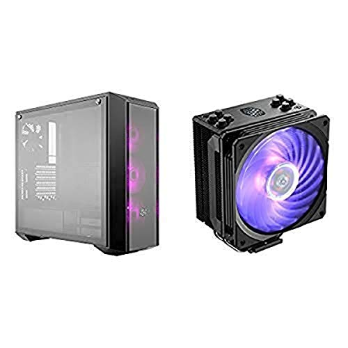 Cooler Master MasterBox Pro 5 RGB ATX Mid-Tower w/ Front DarkMirror Panel, Fans w/1 to 3 Splitter Cable AND Hyper 212 RGB...
