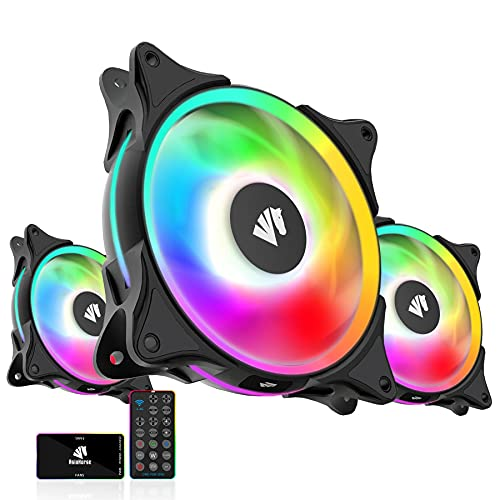 ASIAHORSE FS-9002 Pro 120mm Pwm Fans(800-1800RPM) with 5V Motherboard Sync/Analog PWM Hub - 3Pack Black