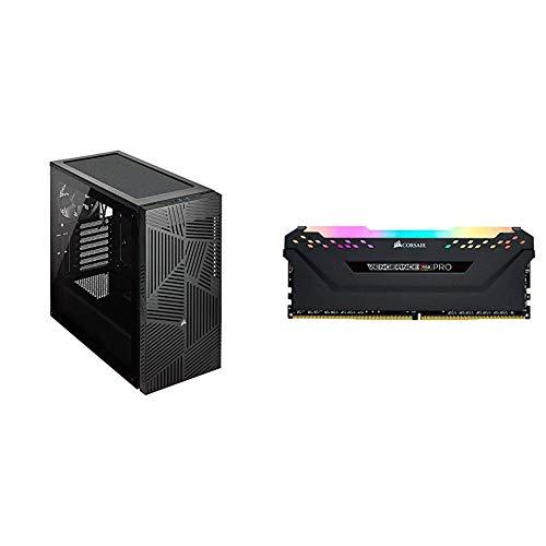 Corsair 275R Airflow Tempered Glass Mid-Tower Gaming Case, Black & Vengeance RGB PRO 16GB (2x8GB) DDR4 3200MHz C16 LED...