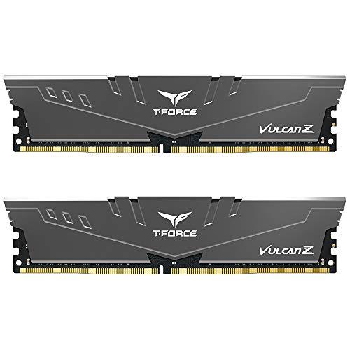 TEAMGROUP T-Force Vulcan Z DDR4 16GB Kit (2x8GB) 3200MHz (PC4-25600) CL16 Desktop Memory Module Ram (Gray) -...