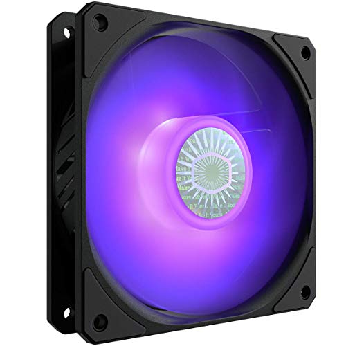 Cooler Master SickleFlow 120 V2 RGB Square Frame Fan, Customizable LEDS, Air Balance Curve Blade, Sealed Bearing, PWM Control...