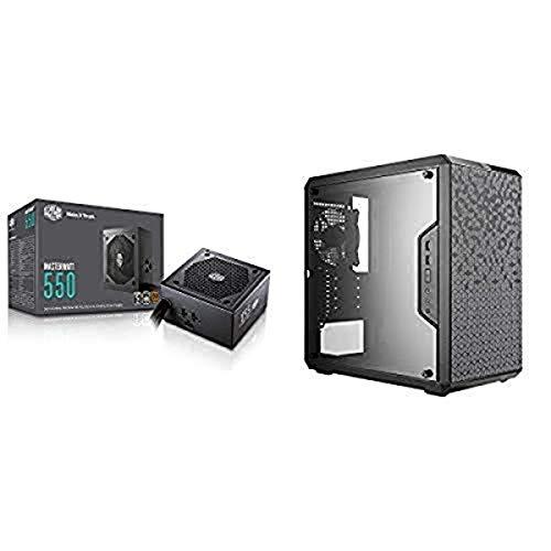MasterWatt 550 Watt Semifanless Modular Power Supply, 80 PLUS Bronze Certified Power Supply for Computers AND MasterBox Tower...