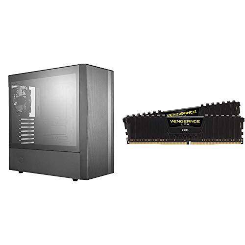 Cooler Master MasterBox NR600 ATX Mid-Tower & Corsair Vengeance LPX 16GB (2x8GB) DDR4 DRAM 3200MHz C16 Desktop Memory Kit -...