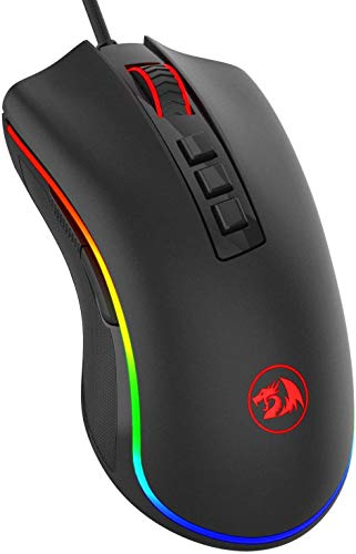 Redragon M711 Cobra Gaming Mouse with 16.8 Million RGB Color Backlit, 10,000 DPI Adjustable, Comfortable Grip, 7 Programmable...
