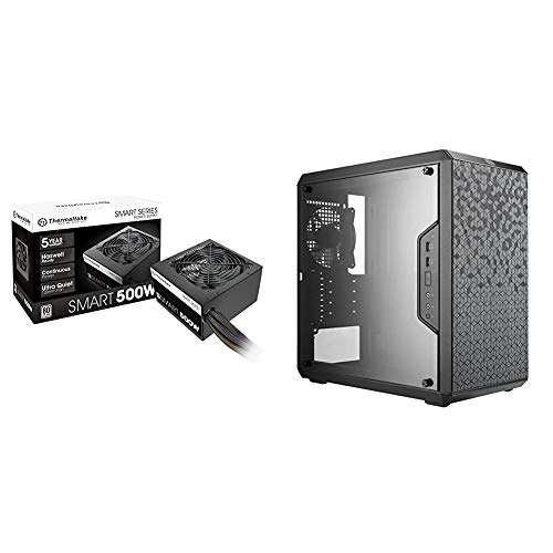 Thermaltake Smart 500W 80+ White Certified PSU, Continuous Power with 120mm Cooling Fan & Cooler Master MCB-Q300L-KANN-S00...
