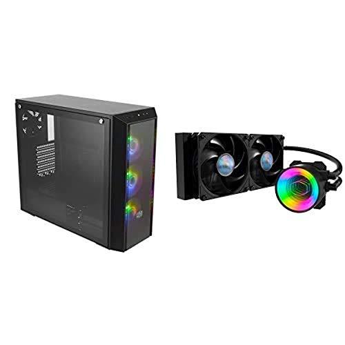 Cooler Master MasterBox Pro 5 ARGB ATX Mid-Tower with MasterLiquid ML240 Mirror ARGB CPU Liquid Cooler