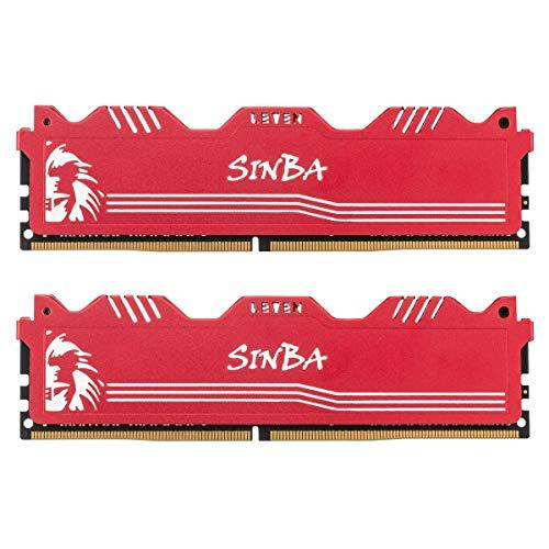 LEVEN SINBA 16GB KIT (8GBx2) DDR4 3200MHz PC4-25600 288-Pin U-DIMM CL16 XMP2.0 Overclocking Gaming RAM Desktop Memory Module-...