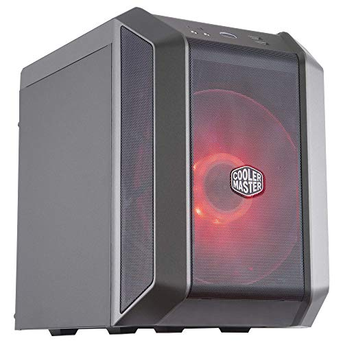 Cooler Master MasterCase H100 Mini-ITX PC Case with 200mm RGB Fan, Fine Mesh Front Panel, Built-in Handle & RGB Lighting...