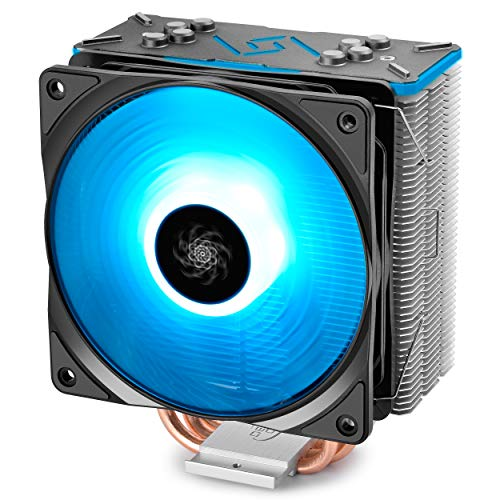 DEEPCOOL GAMMAXX GT BK, CPU Air Cooler, SYNC RGB Fan and RGB Black Top Cover, Cable or Motherboard Control Supported, 4...