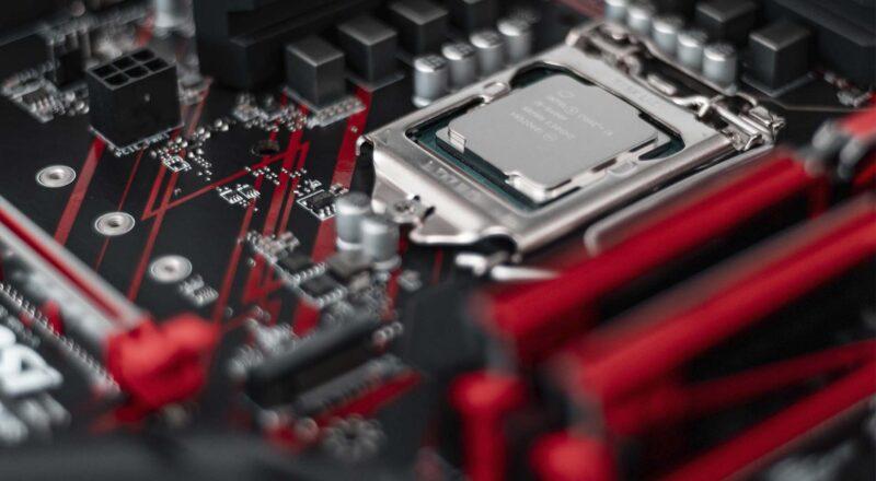 Procesador Intel en una placa base